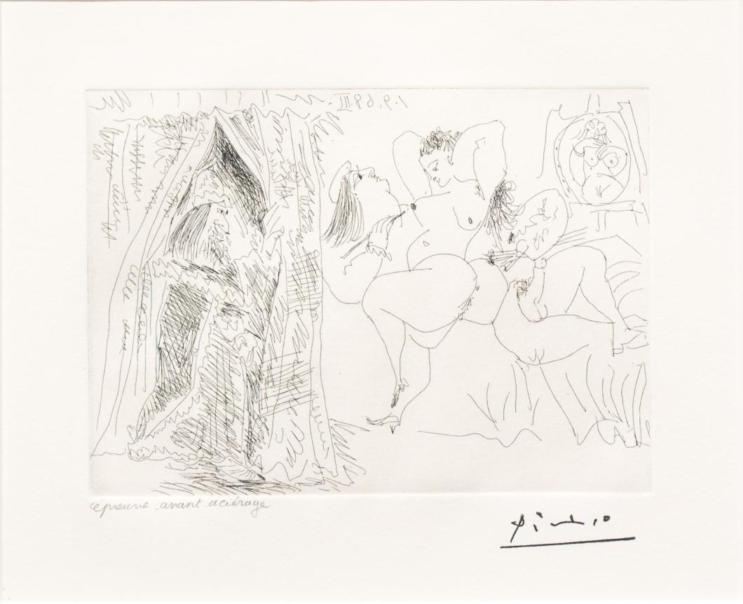Pablo Picasso, Raphael et la Fornarina VIII, 347 series, Etching