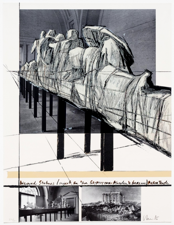 Christo, Aegena Temple Project, Screenprint