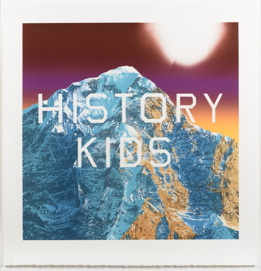 Ed Ruscha, History Kids 2013, signed lithograph
