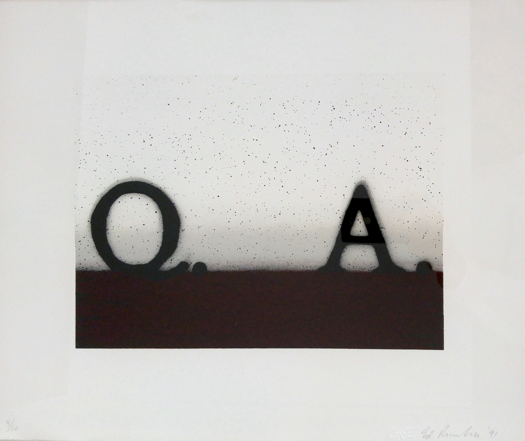 Ed Ruscha, Question & Answer