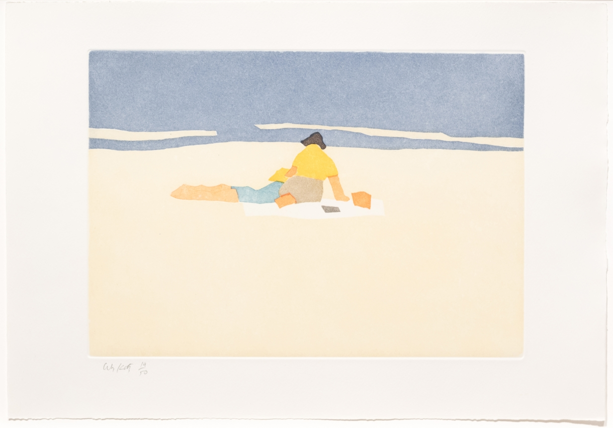 Alex Katz, Figures on Beach, from Small Cuts, Aquatint