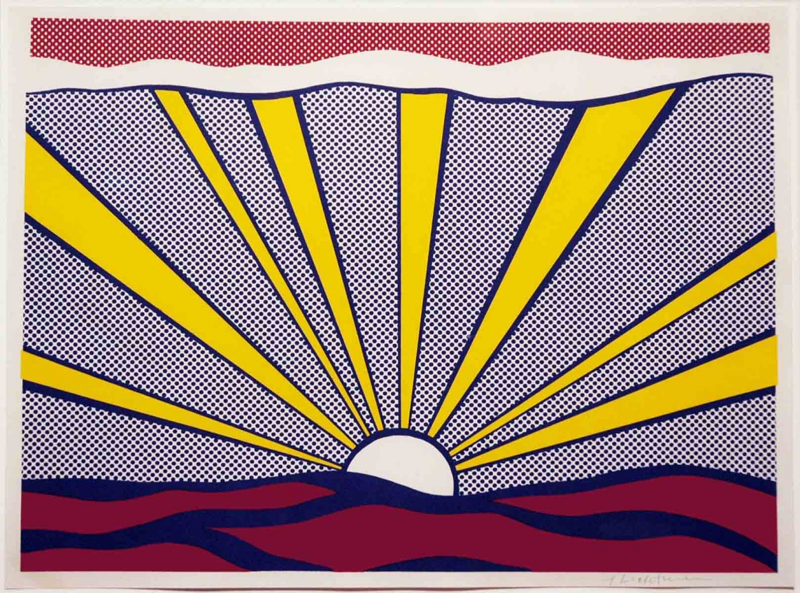 Roy Lichtenstein, Sunrise, Lithograph