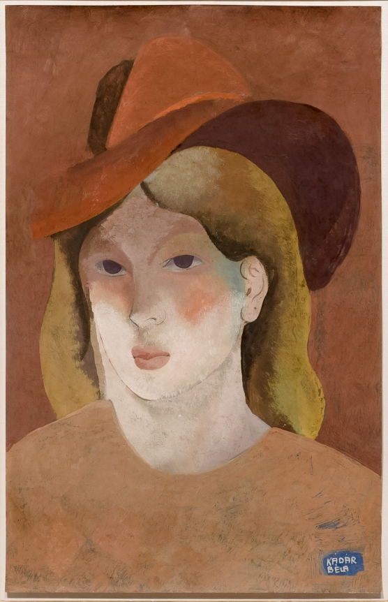 Bela Kadar, Woman with Hat, circa 1930's, gouache on paper