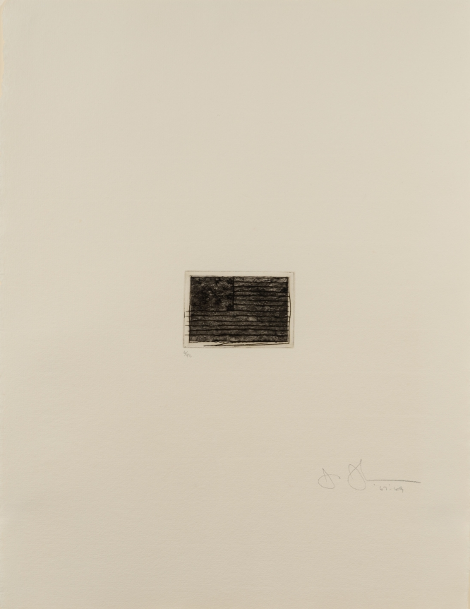Jasper Johns, Flag (small), Etching