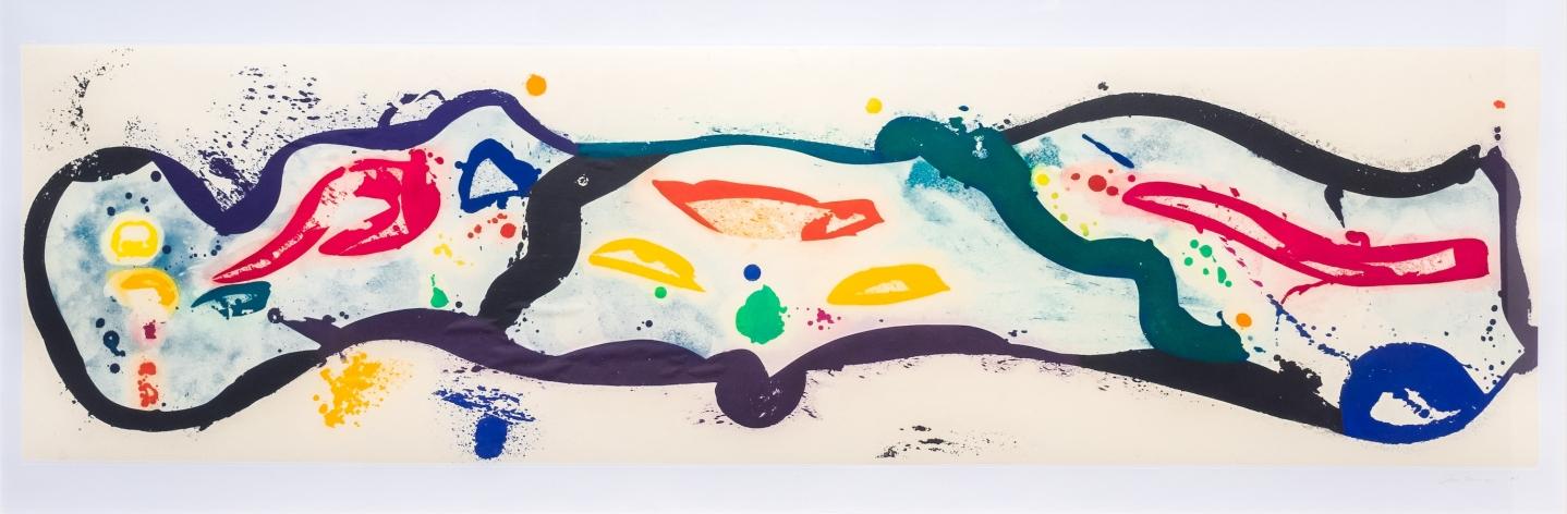 Sam Francis, Untitled 1989, Signed aquatint print