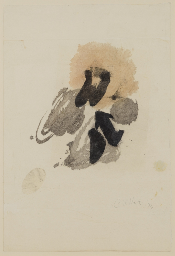 Cynthia Villet, Transcendant Forms No. 1 1994, Ink and wash on paper