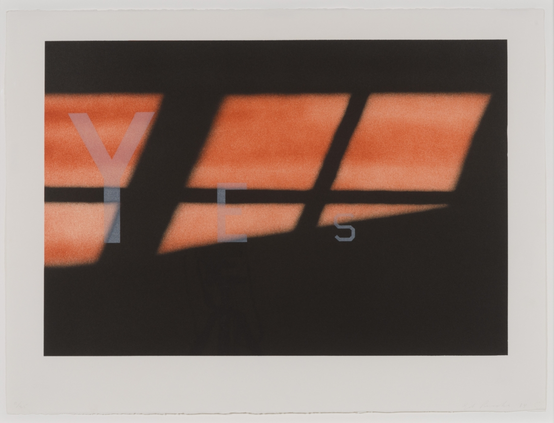 Ed Ruscha, Yes 1984, Signed lithograph