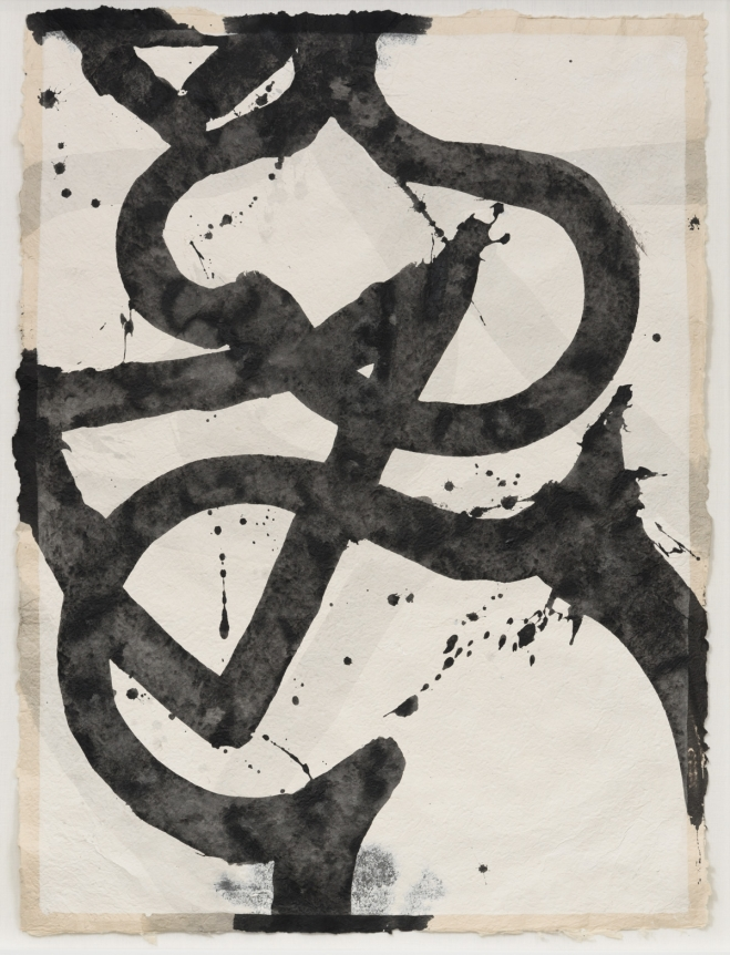 Marc Katano, Verse I, Acrylic and ink on Nepalese paper