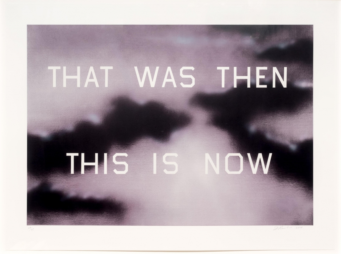 Ed Ruscha, That Was Then This is Now, Lithograph