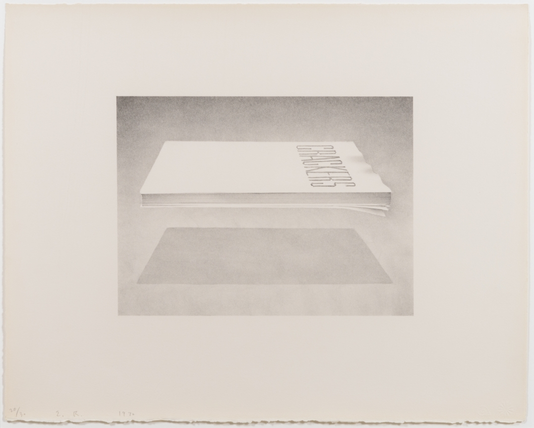 Ed Ruscha, Crackers 1970, Signed Lithograph