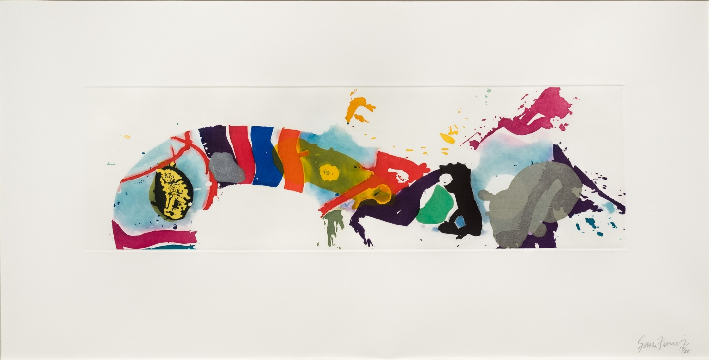 Sam Francis, Untitled 1994, Signed aquatint print