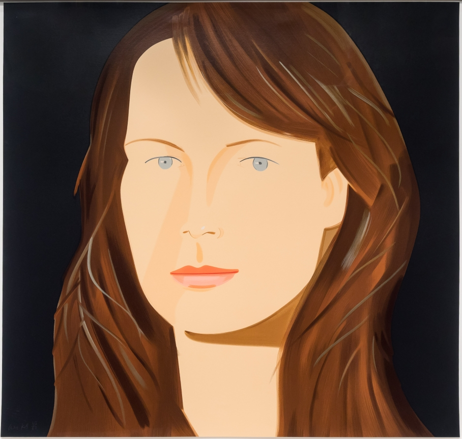 Alex Katz, Sophie, Silkscreen print, Signed