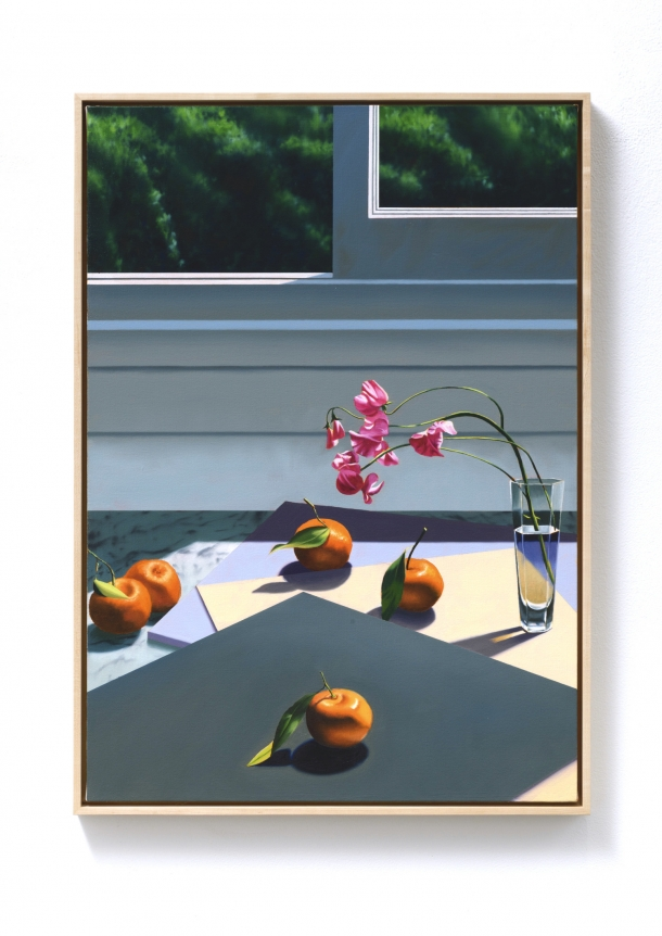 Bruce Cohen, Interior with Sweet Peas and Tangerines