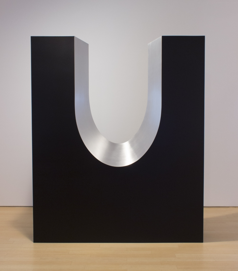 Cosmic Seed, ronald blade, black minimalist monolith sculpture