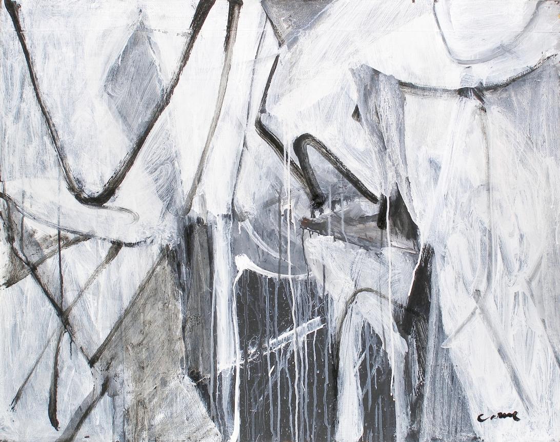 nicolas carone black and white abstract