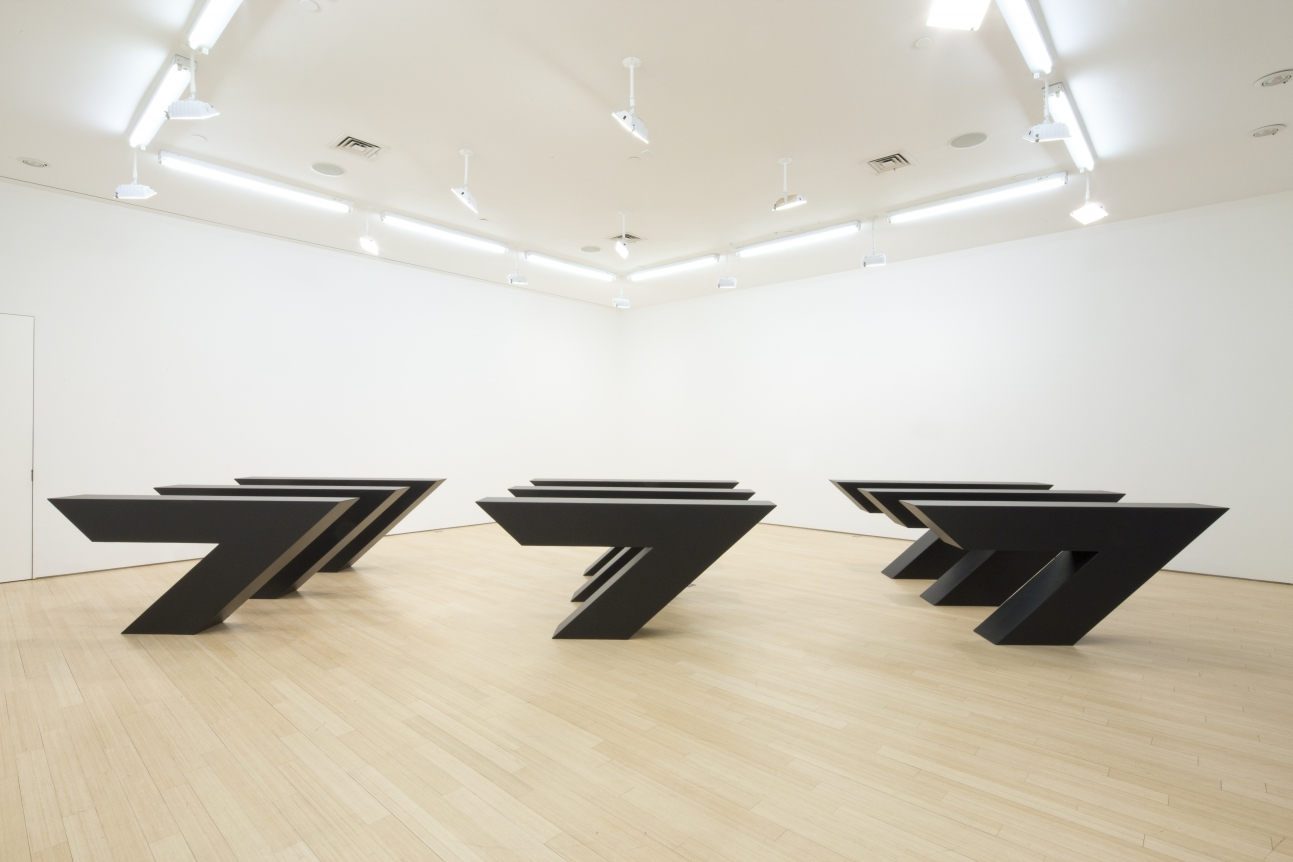 Ronald Bladen, Chevrons, 1974 black minimalist sculpture