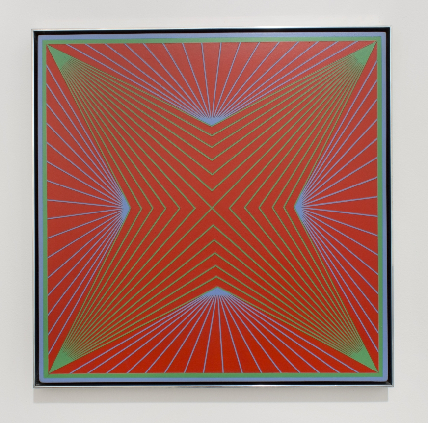 Richard Anuszkiewicz, Corona, op art, red square