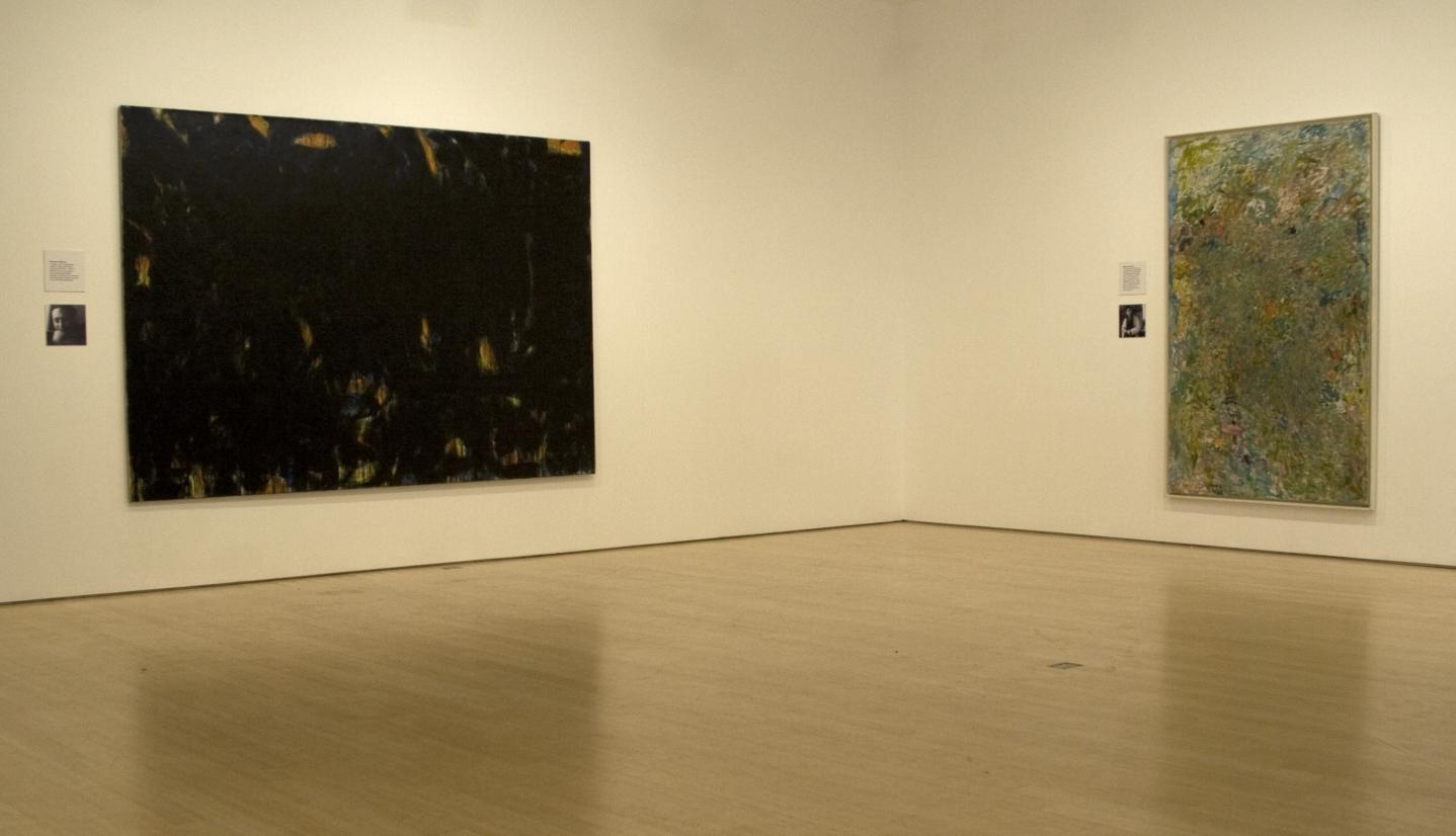 NORMAN BLUHM, Noir, 1954; MILTON RESNICK, Return, 1960,