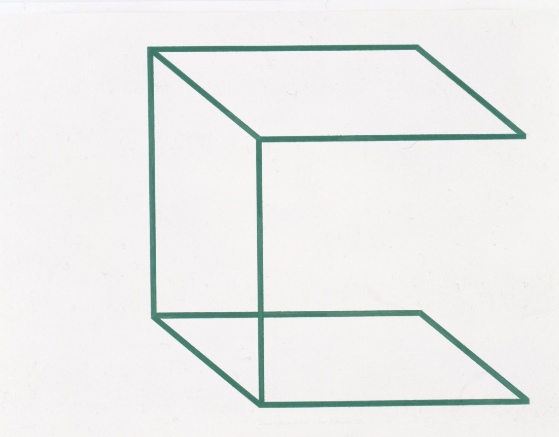Drawing/Neon for the U. of Mass., 1978 (JA-17)