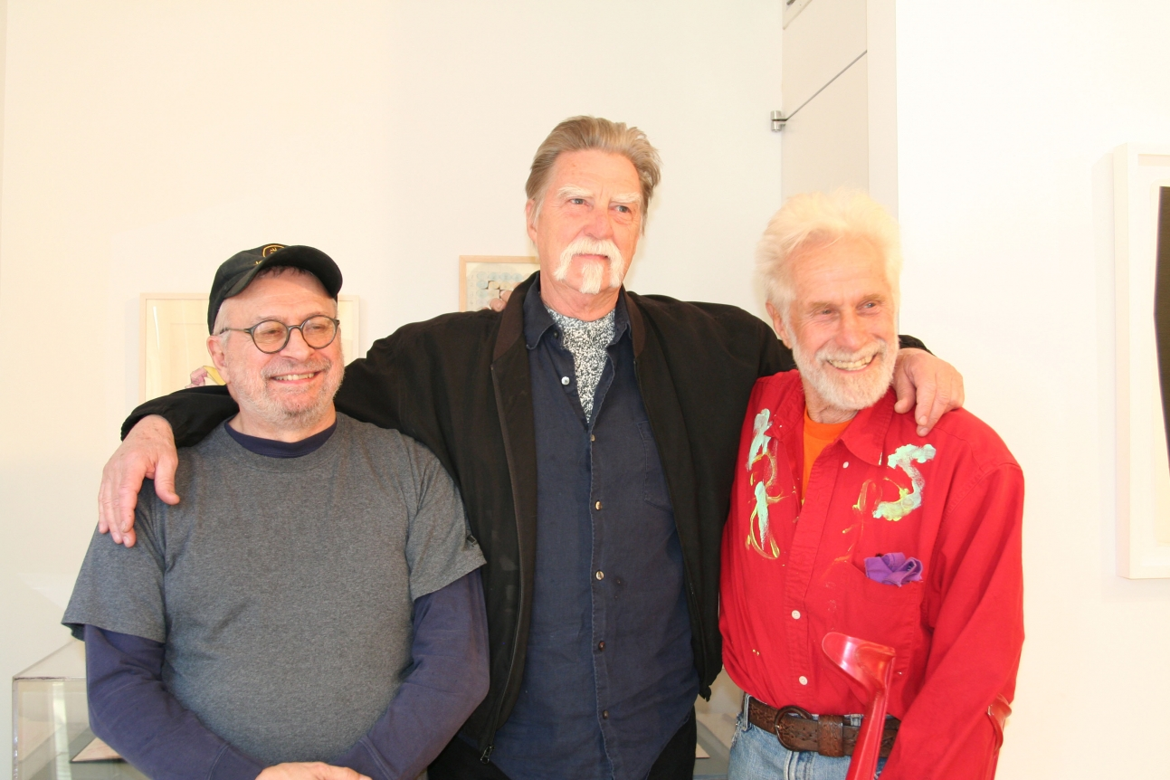 Jim Clark, Frosty Myers and Mark di Suvero