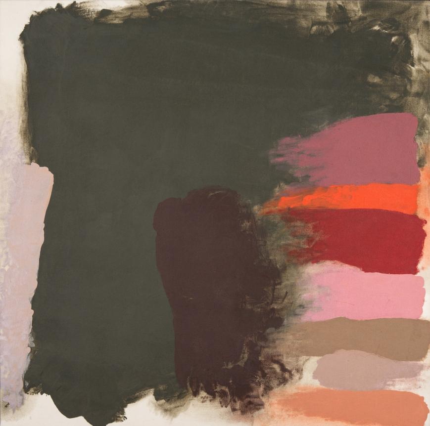 Friedel Dzubas last darkness painting pink peach mauve