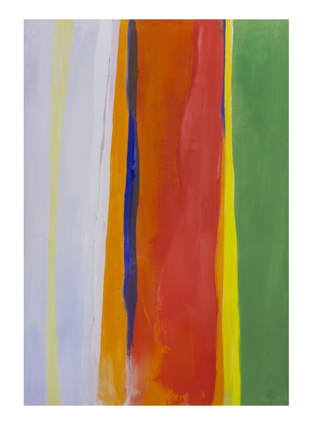 Cleve Gray, Anuenue, orange green painting