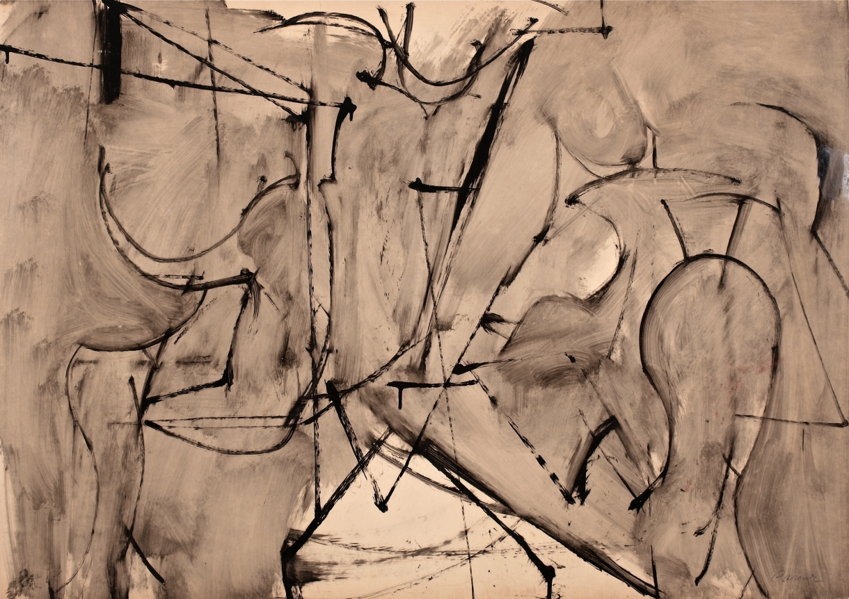 Nicolas Carone brown abstract