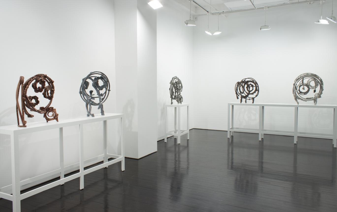 Circular Metal sculptures Joel Perlman