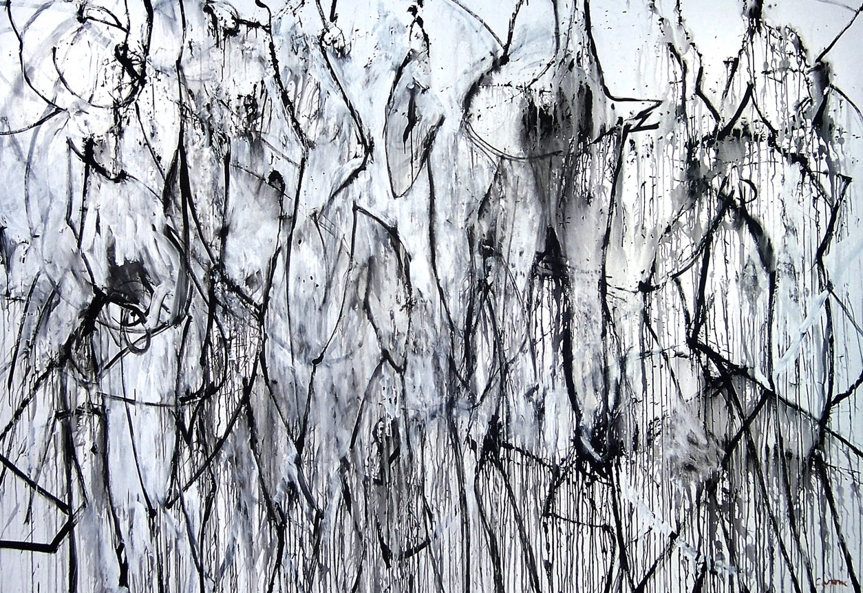 nicolas carone black and white abstract