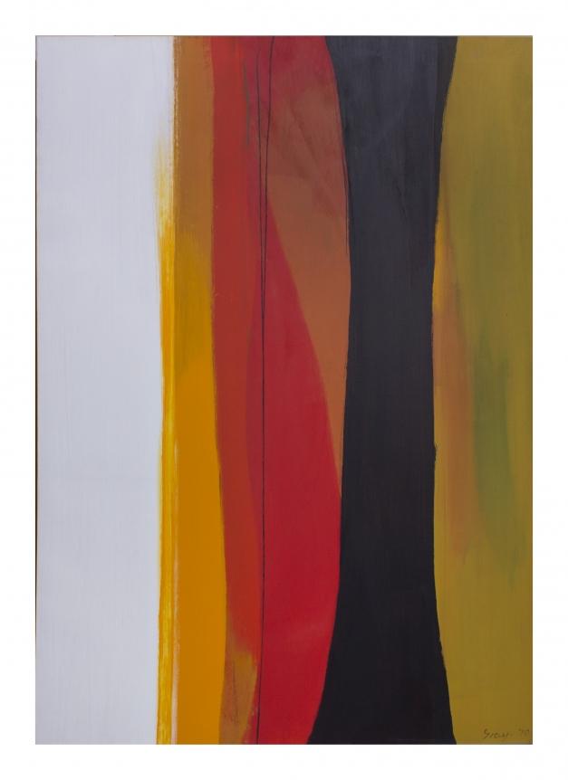 Cleve Gray, Kauai, black and yellow painting