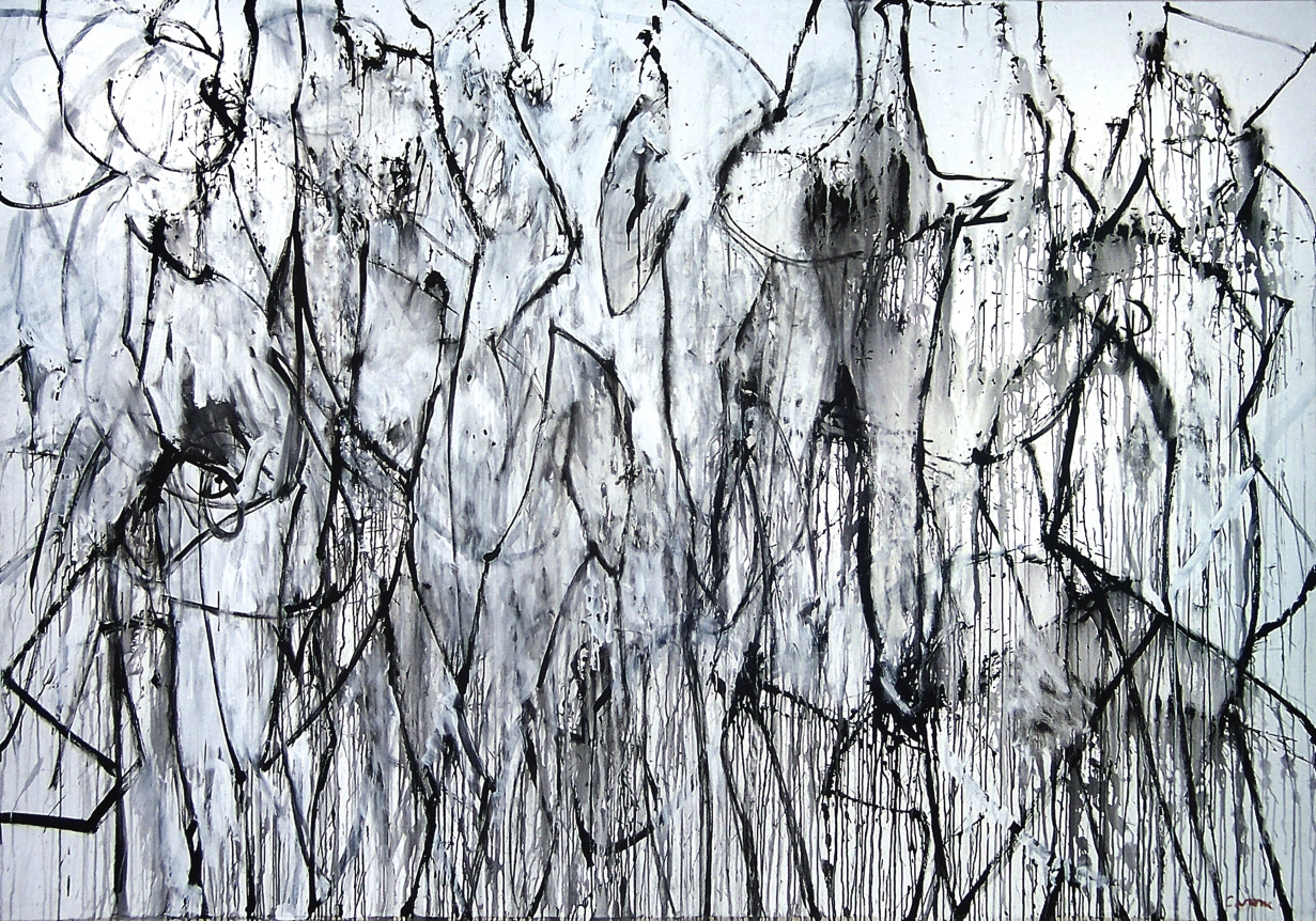 Lost Tribe nicolas carone gray and white abstract