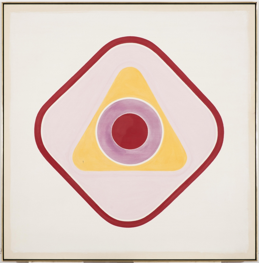 Kenneth Noland pink painting