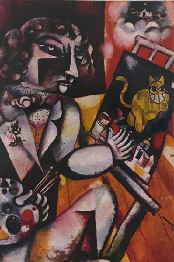 The Grinning Cat visits Chagall