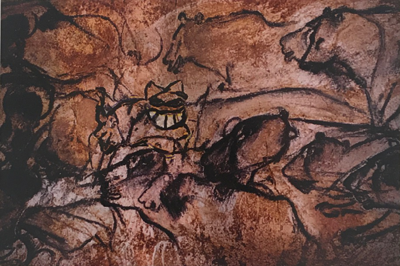 The Grinning Cat visits Cave Painting