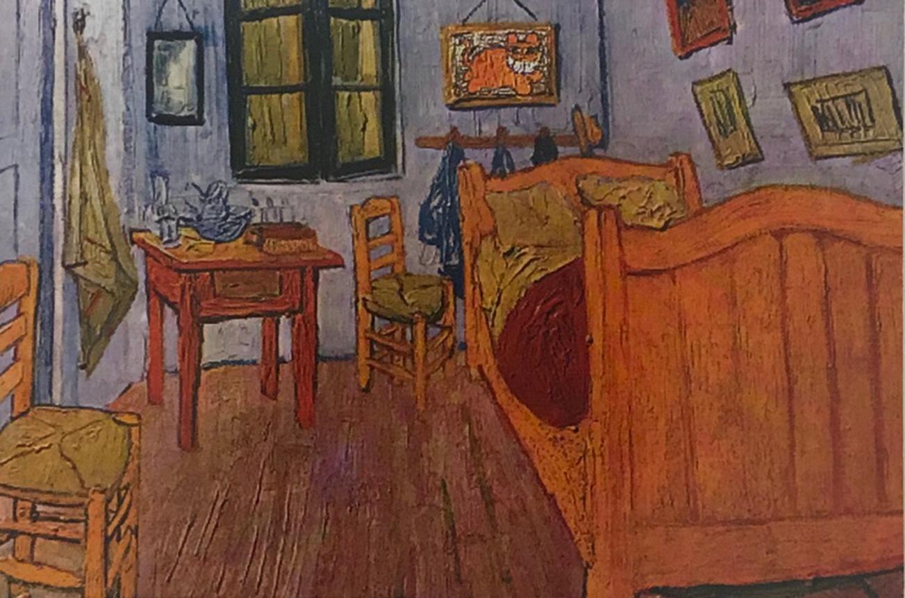The Grinning Cat visits van Gogh