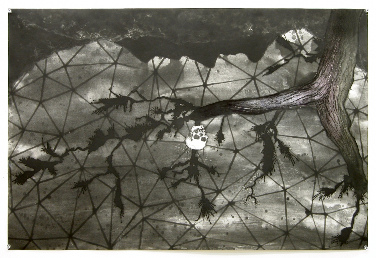[Print B] from: Missing Link (Lady Liberty) from The Dymaxion Series
