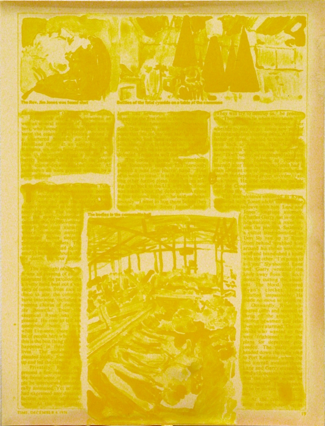 Lithograph print on Durotone Newsprint Aged paper