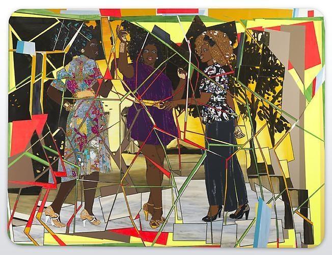 MICKALENE THOMAS Three Graces: Les Trois Femmes Noires, 2011