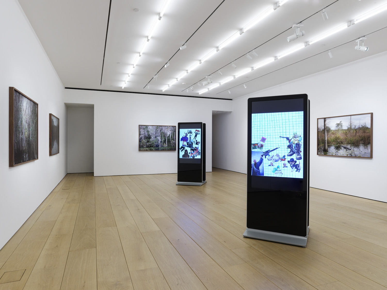 Second installation view of the exhibition Catherine Opie: Rhetorical Landscapes at Lehmann Maupin New York