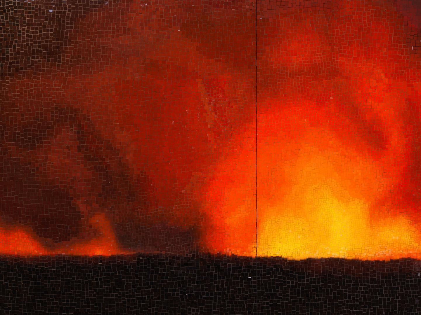TERESITA FERNÁNDEZ Fire (America) 5(detail), 2016
