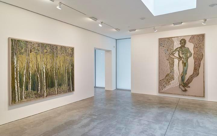 Billy Childish: flowers, nudes and birch trees: New Paintings 2015 Installation view 2
