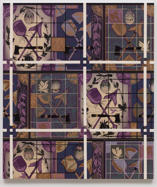 LARI PITTMAN, Portrait of a Textile (Block Printed Linen), 2018