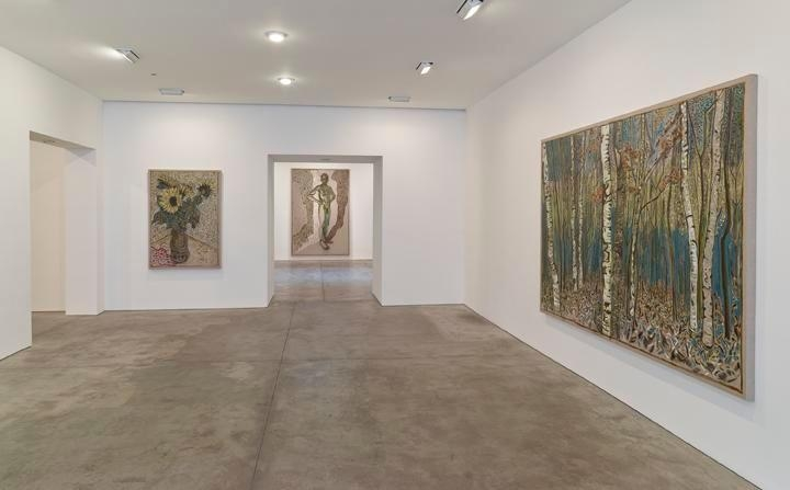 Billy Childish: flowers, nudes and birch trees: New Paintings 2015 Installation view 1