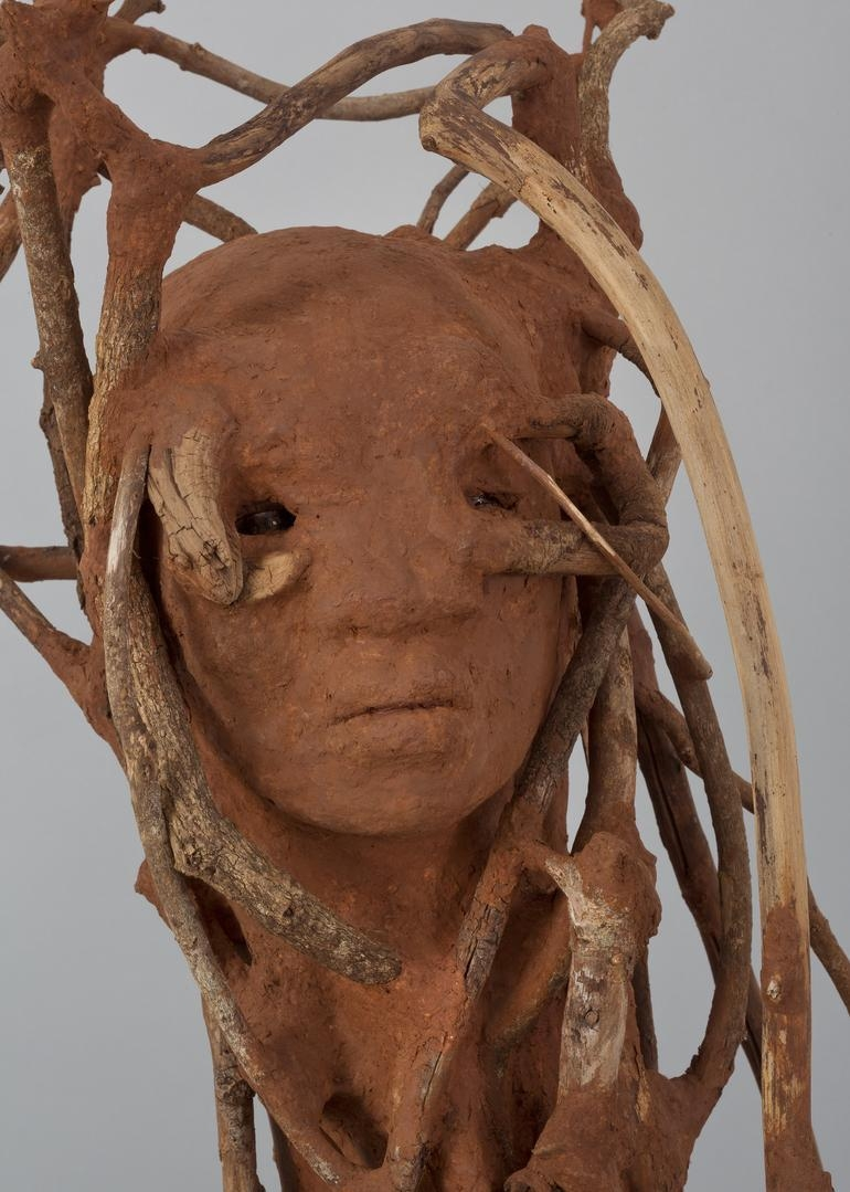 WANGECHI MUTU The Sticks (detail), 2016