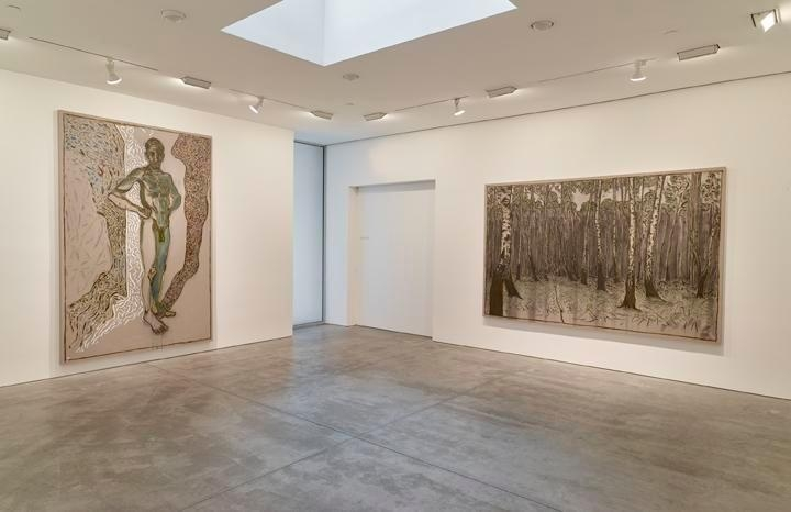Billy Childish: flowers, nudes and birch trees: New Paintings 2015 Installation view 6