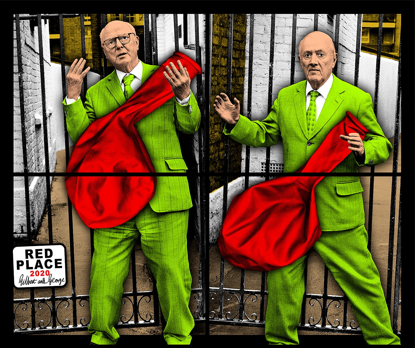 GILBERT & GEORGE, RED PLACE, 2020