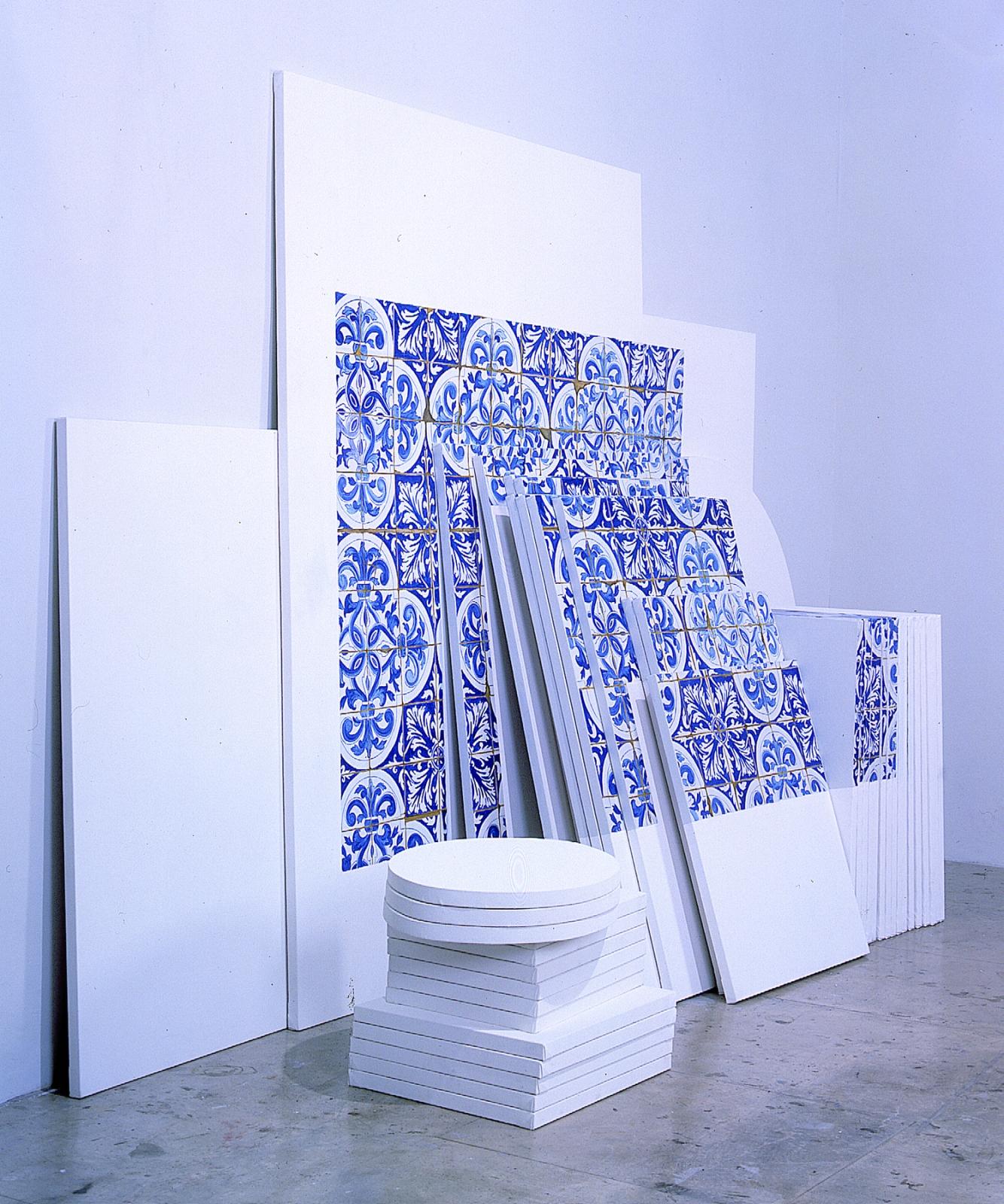 ADRIANA VAREJÃO, Azulejaria 'de Tapete' sobre Telas (Carpet-Style Tilework on Canvases), 1999