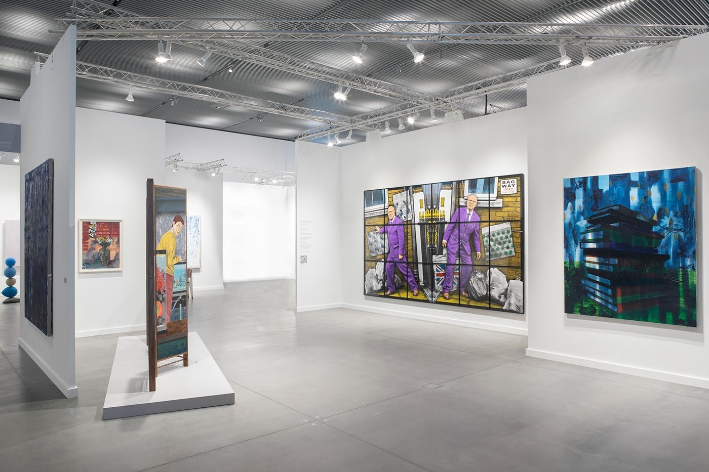 Frieze New York 2021, Installation view, Lehmann Maupin, Booth A05