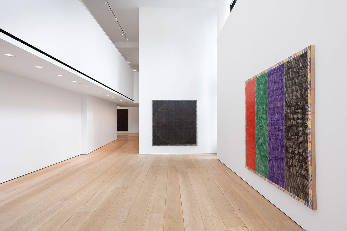 McArthur Binion: Modern:Ancient:Brown, Installation view, New York