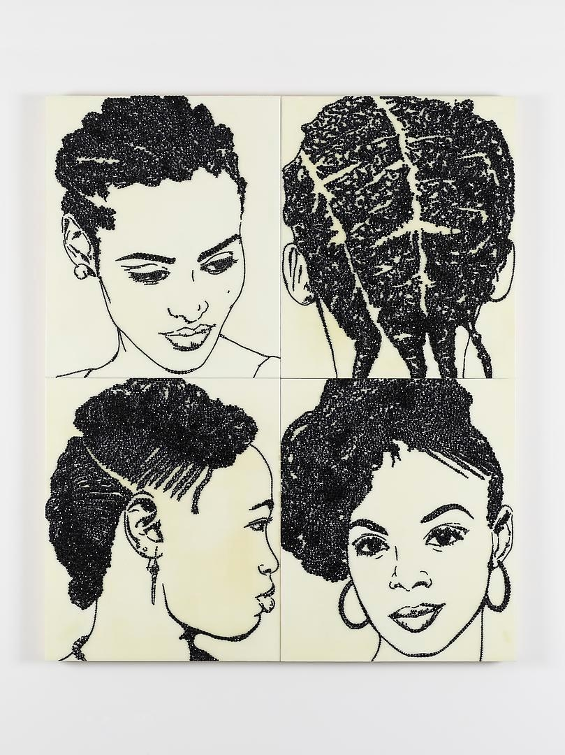 MICKALENE THOMAS, Hair Portrait #18, 2013